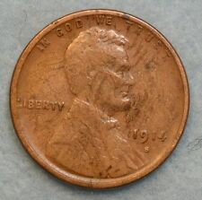 1914 S Lincoln Wheat Cent Penny Great Details San Francisco Mint FAST S&H 074