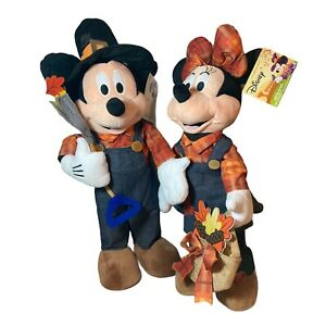 Mickey Mouse and Minnie Mouse Thanksgiving Fall Harvest Porch Greeters BRAND NEW