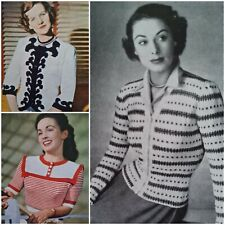 1940s Fair Isle Roulade Roses Oriental Knitting Pattern Stitchcraft 185 Vintage