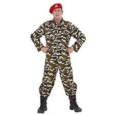 Plus Size Solider Costume - Military Soldier New Mens Carnival Fancy Dress