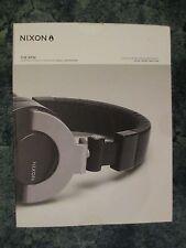 Nixon The RPM Over-Ear Custom DJ Headphone Black/Silver New/Sealed (Retail $200)