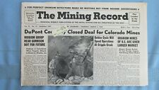 1959 Mining Record-Powderhorn Colorado Uranium Mines-Gilman Colorado Zinc Mine