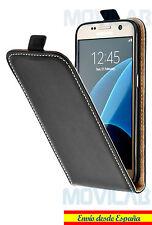 Funda Flip Samsung G925 Galaxy S6 Edge TPU / Piel tapa vertical tarjeta negra