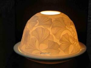 Starlight Windlicht Nr. 68 Ginkgo, Porzellan-Windlicht