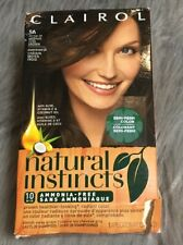 Clairol Natural Instincts Hair Color 5A Former 24 Medium Cool Brown 1 Box New