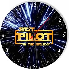 Best Pilot in the Star Galaxy Wars Space Kitchen Living room Wall Clock