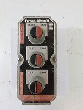 Used Furnas 51EA3H Control Station Enclosure 3 Hole