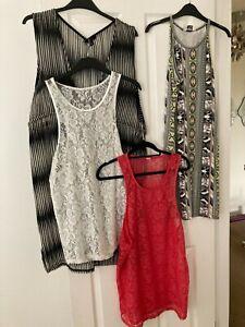 FAB SIZE 14 LADIES HOLIDAY BUNDLE MISS SELFRIDGE DRESS LACE TOPS ETC X4