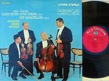 Juilliard String Quartet US Living Stereo RCA DG Red Seal LP EX '61 LSC2531 Berg