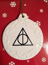 FANTASTIC BEASTS & HARRY POTTER DEATHLY HALLOWS FANS CHRISTMAS ORNAMENT