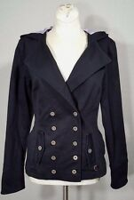 Rare Nomis Brand Hoody Jacket Womans Sz S/SMALL Military Peacoat Style Hoodie