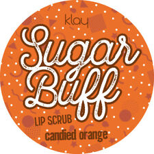 LIP SCRUB Orange HANDMADE SUGAR EXFOLIATOR Soft Plump Kissable Lips MADE IN UK