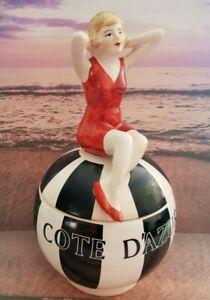 Super 1920's Art Deco Style Box Souvenir Côte d'Azur France ~Bathing Beauty