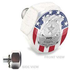Polished  Billet Hex Air Cleaner Bolt Harley -  POLICE BADGE USA FLAG - 169