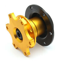 Universal 6 Hole Steering Wheel Quick Release Hub Adapter Snap Off Boss Kit Gold