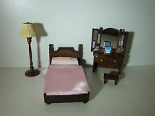 Sylvanian Families Bedroom Furniture Set  with lampshade