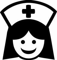 NURSE - V2 - Vinyl Decal Sticker  - ER OR RN LPN Nursing Hospital Medical School