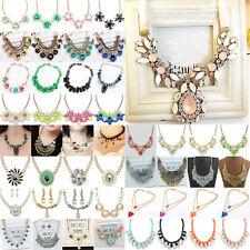 New Women Pendant Chain Choker Chunky Collar Bib Necklace Costume Jewellery Gift