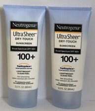 2 pcs Neutrogena UltraSheer Dry-Touch Sunscreen Lotion SPF 100+ 3 Oz EXP 02/2022