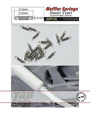 20pc SMALL METAL MUFFLER SPRINGS for TAMIYA HIRO FUJIMI