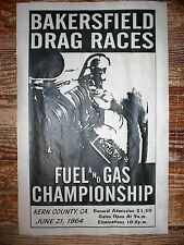 "(588) DRAG STRIP BAKERSFIELD GASSER DRAGSTER PROMOTIONAL RACING POSTER 11""x17"""