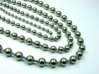 ~Custom Made~ STAINLESS STEEL BALL Chain NECKLACE 3mm / 4mm / 5mm ++ Extra LONG
