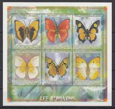 Mali - Michel-Nr. 2404-2409 postfrisch/** als Kleinbogen (Schmetterlinge)