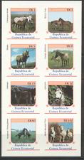 Ecuatorial Guinea Horses IMPERF 8v sht ref:s1281