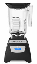 Blendtec Classic 570 Blender Black W/ 90oz Wildside+ Jar, Lid, Warranty, Used