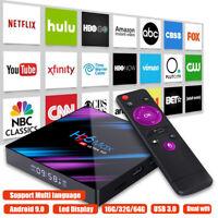 H96 MAX Smart TV BOX Android 9.0 OS 4G RAM 32/64GB Quad Core 1080p 4K LED screen