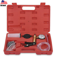 Hand Held Vacuum Pump Tester Set and Brake Bleeder Motorbike Bleeding Car Kit