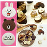 Bear Cute Rabbit Silicone Mold Fondant Cake Chocolate Mould Cupcake Baking Decor