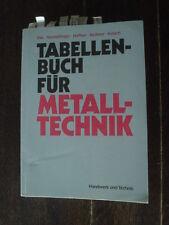 Tabellenbuch für Metall-Technik Dax Gundelfinger Häffner Itschner Kotsch 1984
