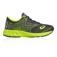 Asics Chicos Noosa GS Correr Zapatos Zapatillas Negro Verde Deporte