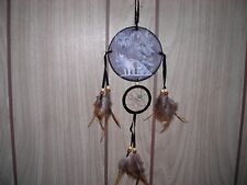 DREAM CATCHER  with feathers wall hanging decoration ornament- WOLF-NEW-CHINA