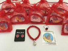 Girls Ladybird Pre Filled Party Bags, Bracelet, Magnetic Earrings, Ring & Tattoo