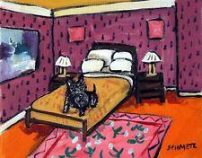 Scottish Terrier Dog art 4x6 american modern folk bedroom Glossy Print