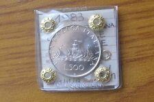 REPUBBLICA ITALIANA MONETA LIRE 500 CARAVELLE 1983 sigillata FDC SUBALPINA