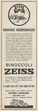 Z3236 Binoccoli Grandangolari ZEISS - Pubblicità d'epoca - 1929 Old advertising