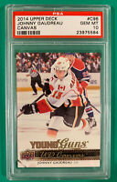 JOHNNY GAUDREAU PSA 10 2014-15 UPPER DECK YOUNG GUNS CANVAS ROOKIE CARD #C96