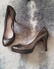 VINCE CAMUTO Women's Shoes Metalic Leather  High Heels Pump Size 8B 38 EUC