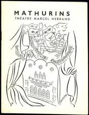 Programme ancien THEATRE DES MATHURINS Illustration VALENTINE HUGO Herrand