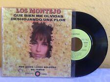 """LOS MONTEJO QUE BIEN ME OLVIDAS / DESHOJANDO LA FLOR MEXICAN 7"""" SINGLE PS TRIOS"""