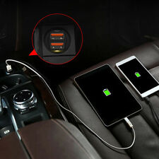1X Mini Dual Usb Car Phone Gps Charger Cigarette Lighter Adapter Accessories (Fits: Charger)