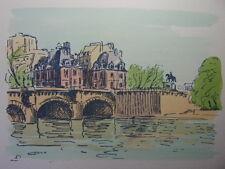 52 /  AQUARELLE PARIS / Le pont Neuf