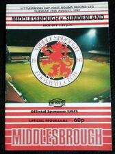 Middlesbrough v  Sunderland     League Cup 1st Round   25-8-1987