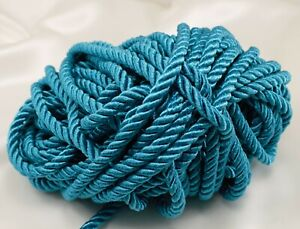 Twisted Drapery Cord - TEAL - New - 20 yds.