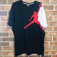 Air Jordan Men's 3Xl Big Logo Graphic Shirt Black Flight Vintage Basketball Rare