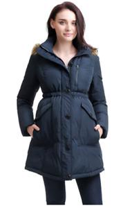 Momo Maternity Outerwear Women's Nori Hooded Down Parka Coat Pregnancy Winter