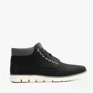 Timberland BRADSTREET CHUKKA Mens Leather Cushioned Lace-Up Ankle Boots Black